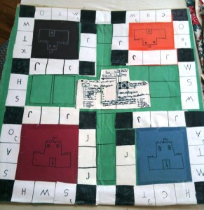 This seems like a good place to post a photo of the first game I ever designed, Medieval Quest (I was 8 years old).