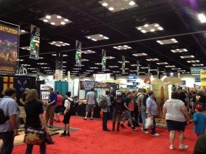 A small portion of the exhibit hall.