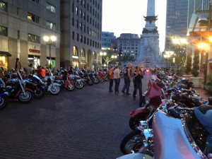A biker convention was taking place the same weekend.