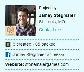 Jamey Stegmaier — Kickstarter