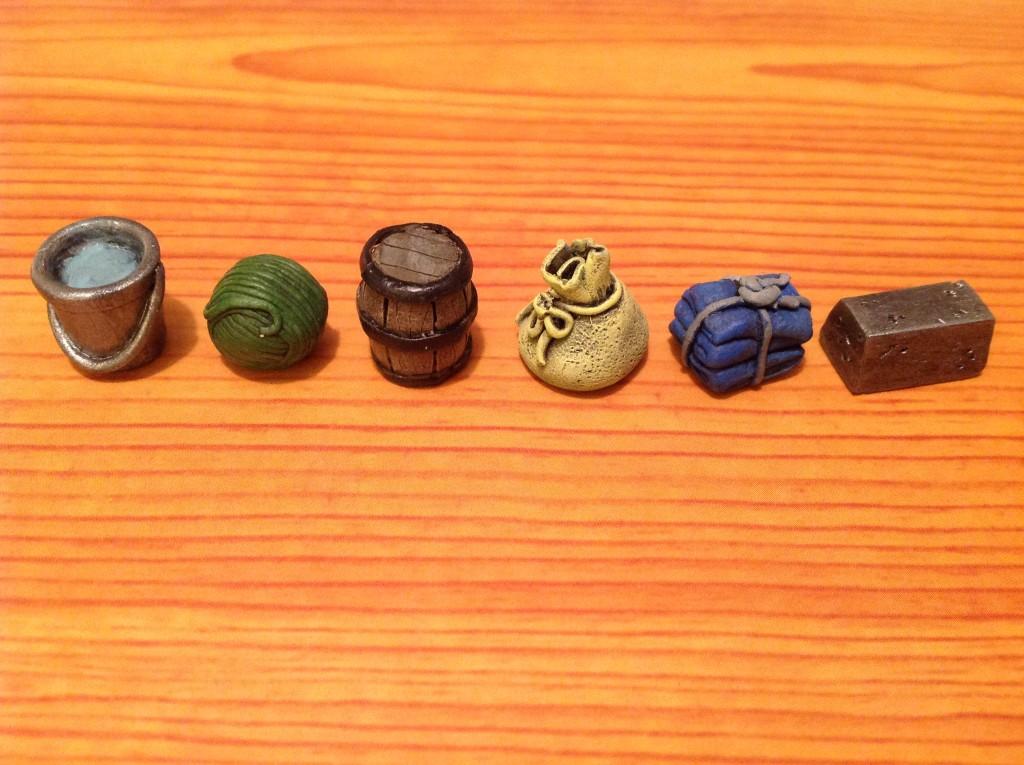 Resource Vault: steel, wool, barrel, bag, cloth, water