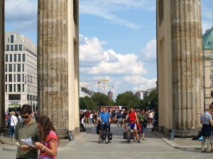 Between Two Brandenburger Tor Pillars