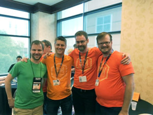 from left to right: Craig (investor), Jamey, Morten, Alan (photo editing by Richard Miles)